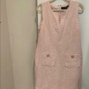 Karl Lagerfeld pink tweed dress